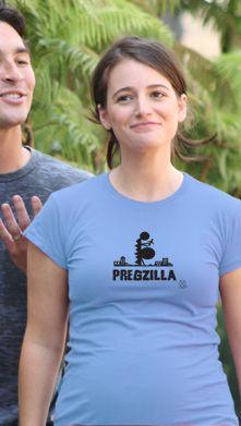 """Pregzilla"" Maternity T-Shirt | Funny Maternity T-Shirts Maternity Fashion www.duematernity.com Holiday Gifts under $50"