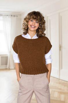 Drops Design, Knit Or Crochet, Knitting Patterns, Hair Cuts, Textiles, Clothes, Women, Ideas, Fashion