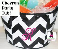 INSULATED Chevron Party Cooler - Miss Lucy's Monograms