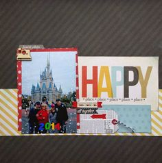 #Scrapbook Layout #Disney World #Simple Stories Say Cheese