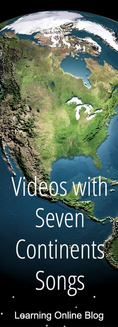 Teach kids geography with these videos of seven continents songs. #geography #homeschool #homeschooling #education