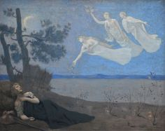 'Le Reve' (The Dream)-Puvis de Chavannes-Orsay 1882 Definition and Characteristics Symbolism, a late 19th-century movement of Post-Impressionist painting, flourished throughout Europe between 1886 and 1900 in almost every area of the arts. Initially emerging in literature, including poetry, philosophy and theatre, it then spread to music and the visual arts. Symbolist art had strong connections with the Pre-Raphaelites and with Romanticism, as well as the Aestheticism movement.