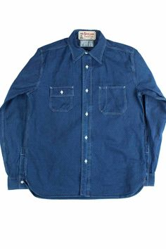 Sugar Cane - Work Shirt - Polka Dot - SUG16SSHTMNAV104361