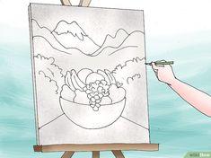 Comment peindre un tableau avec de la peinture acrylique Acrylic Tutorials, Acrylic Painting Techniques, Step By Step Painting, Big Shot, Draw, Canvas, Artwork, Barbacoa, Painting On Fabric