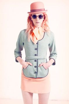 Pastels happen! Peach hair & a peach felt Derby hat | For Nylon magazine March '12