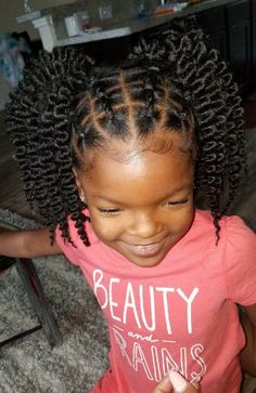 87 Stunning Black Girls Hairstyles Ideas in Creative hairstyles for African-American girls and women. Plenty of natural doses knits and corn fields for a great source of inspiration!…, Short Hairstyle – T-Shirts & Sweaters Lil Girl Hairstyles, Black Kids Hairstyles, Natural Hairstyles For Kids, Kids Braided Hairstyles, Creative Hairstyles, Curly Hairstyles, Ethnic Hairstyles, Hairstyles Pictures, Hairstyles 2018