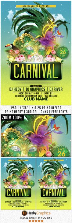 Carnival - Flyer Template. Print-templates Flyers Events. To make this pin discoverable brasil, brasileiro, brazil, brazilian, carnaval, carnival, carnival party, celebration, club, Costumes, event, festa, festival, flyer, hedygraphics, holiday, latin, mardi, mardi gras, mardi gras flyer, mardigras, mask, masks, masquerade, Masquerade Ball, party, poster, and psd.