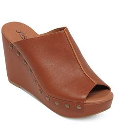 Lucky Brand Women's Malayah Platform Wedge Slide Sandals