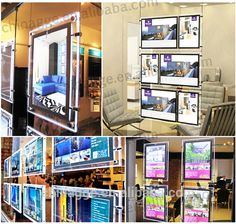 Window Display Led Acrylic Backlit Poster Frame Photo