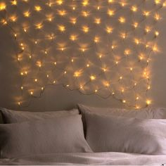 Fairy lights in the bedroom. Fish net lights in the bedroom. Design and inspiration from Typo