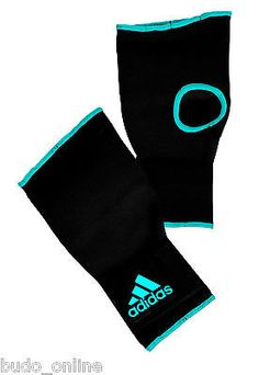 #Adidas fingerless #black & blue inner #gloves boxing hand protection,  View more on the LINK: 	http://www.zeppy.io/product/gb/2/111880972964/