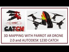 Mapping using Parrot AR Drone 2.0 and AutoDESK 123D