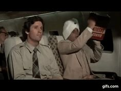 """Best Clips From the Movie Airplane // """"Joe, have u ever seen a grown man naked?"""" - of course a question from Pit Cock Excuse me Sir, u are doctor? Looks like u picked the wrong week to quit 'whatever' we had ='(( Mr. Airplane Movie Quotes, Airplane The Movie, 1980s Films, 80s Movies, Great Movies, Movie Gifs, Movie Tv, 80s Movie Posters, Best Clips"""