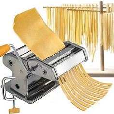 NEW Pasta Maker Roller Machine Fresh Spaghetti Noodle Fettuccine Stainless Steel #PastaMaker