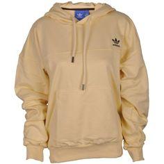 Adidas Oversize Hoodie ($44) ❤ liked on Polyvore featuring tops, hoodies, jackets, easyyel, hooded pullover, sweatshirt hoodies, adidas top, adidas hoodies and hoodie top