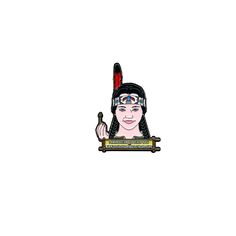 Indian Wednesday Addams Pin
