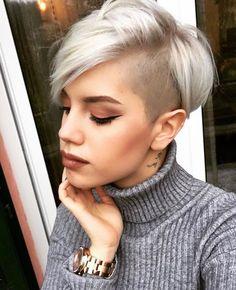 cool 25 Good-Looking Short Haircuts: Shaved Side Long Pixie; medianet_width = medianet_height = medianet_crid = medianet_versionId = (function() { var isSSL = 'https:' ==. Best Wedding Hairstyles, Pixie Hairstyles, Pixie Haircut, Cool Hairstyles, Asian Hairstyles, Haircut Short, Hairstyles Haircuts, Short Hair Cuts For Women, Short Hair Styles