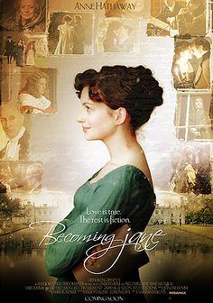 Becoming Jane Anne Hathaway as Jane Austen. A biographical portrait of a pre-fame Jane Austen and her romance with a young Irishman. Jane's Addiction, Becoming Jane, Jane Austen Novels, Recent Movies, Irish Men, Anne Hathaway, Pride And Prejudice, Period Dramas, Movies Showing