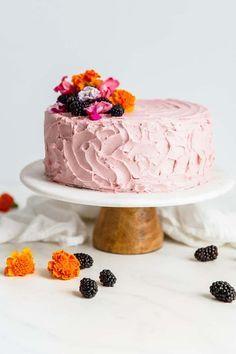 7faa7c0b3b Best Chocolate Cake Recipe with Blackberry Buttercream - A rich