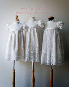 Diamond White Dress Three Sisters, Flower Girl Dress, Communion Dress, LIMITED sizes. $220.00, via Etsy.