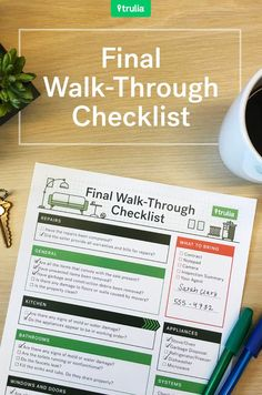 Trulia's Final Walk-Through Checklist – Real Estate 101 – Truli Real Estate Career, Real Estate Business, Real Estate News, Selling Real Estate, Real Estate Investing, Real Estate Marketing, Home Buying Tips, Home Improvement Loans, Sell Your House Fast