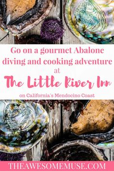 The Little River Inn, just south of Mendocino, CA,  offers gourmet diving experiences where you dive for abalone and are able to eat your own catch that day.