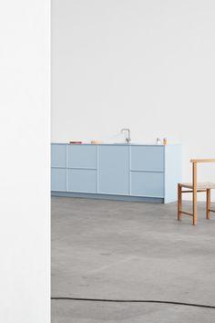 David Thulstrup, Note Design Studio and Muller Van Severen hack IKEA kitchens for Reform - Küche Note Design Studio, Notes Design, Modern Kitchen Cabinets, Kitchen Interior, Kitchen Furniture, Wood Furniture, Kitchen Decor, Layout Design, Design Design