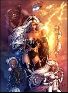 """""""I am a woman, a mutant, a thief, an X-Man, a lover, a wife, a queen. I am all these things. I am Storm, and for me, there are no such things as limits."""" - Ororo Munroe, aka Storm"""