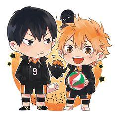 Haikyuu! ~~ Cuties! ☀   ayame [pixiv] :: Tobio Kageyama and Shoyo Hinata