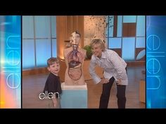When Ellen met Matthew Sawchuck, a young savant in the field of anatomy, she had no idea what she was about to get into! Check out their hilarious interaction. Apologia Anatomy, The Ellen Show, Ellen Degeneres, Mouths, Hilarious, Funny, I Laughed, Comedy, How To Memorize Things