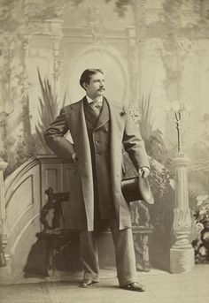 Captivatingly good looking Victorian actor (and ancestor of Drew) Maurice Barrymore in 1874.