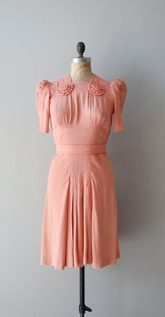 vintage 1930s dress / rayon 30s dress / Nom de Plume dress