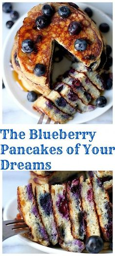 The Blueberry Pancakes Of Your Dreams - these are simply THE BEST! Light, fluffy, and so easy to make!