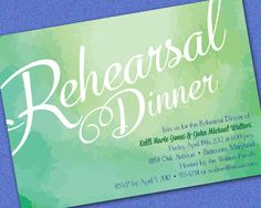 Water Color Wording - Printable Rehearsal Dinner Invitation on Etsy, $16.00
