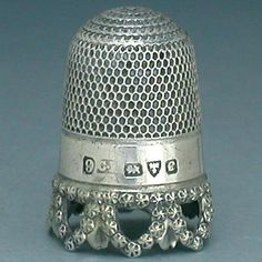 Antique English Charles Horner Pierced Band Sterling Thimble; Hallmarked1904