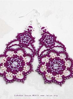 Angel wings from Rainbow Valley Collection, cotton thread, Czech beads Preciosa, crystal beads Swarovski.