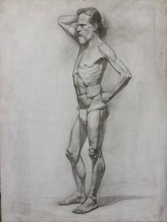Silvia Ilona Klatt, Figure drawing, pencil on paper, 70x90cm