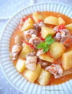 鶏もも肉とトマじゃがチーズのバター蒸し by たっきーママ | レシピ ...