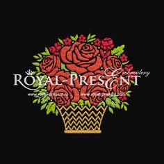 Machine Embroidery Design - Bouquet II, $2.00