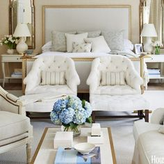 Dreamy Bedroom Inspiration That Will Make You Cozy 15 Beautiful Bedrooms, Beautiful Homes, House Beautiful, Bedroom Colors, Bedroom Decor, Bedroom Ideas, Beverly Hills Houses, Luxurious Bedrooms, Interiores Design