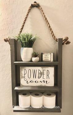 Easy & Creative DIY Home Decor Ideas on A Budget + Tutorial Bauernhaus Badezimmer Diy Bathroom Decor, Small Bathroom, Diy Home Decor, Bedroom Decor, Farmhouse Decor Bathroom, Bathroom Ideas, Shower Ideas, Country Bathrooms, Neutral Bathroom