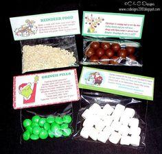 Reindeer Poop, Grinch Pills and Snowman Poop.
