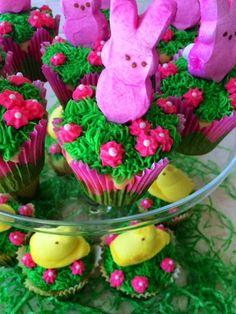 The Preppy Hostess: Easter Peeps Cupcakes --- Follow @ thepreppyhostess.blogspot.com