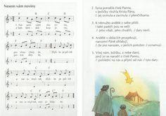 notový zápis vánoční koledy - Hledat Googlem Kids Songs, Words, Taking Notes, Nursery Songs, Horse