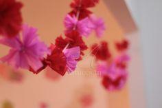 Guirlande de pompons en papier cr�pon