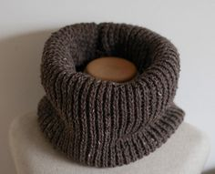 SALE Chocolate Brown vegan infinity scarf cowl by FawnAndFolly