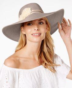 1c4d2f46653 August Hats Floral Floppy Hat Handbags   Accessories - Macy s