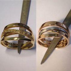 Und so können die Ringe von Opa und Oma aussehen!  Mit oder ohne Diamanten.  #umarbeitung #weddingrings #trauringe #gold #diamonds #goldschmied #handmade #handwerk #badbevensen