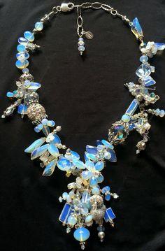 Opalite AZIN #Opalite AZIN by @ladamidesigns #statement #finejewelry #oneofakind #ooak #swarovski #gemstones #iridescent #sterlingsilver #opalite #statementnecklace #miami #nyc #la #vegas Statement Jewelry, Iridescent, Vegas, Miami, Swarovski, Fine Jewelry, Jewelry Design, Nyc, Charmed