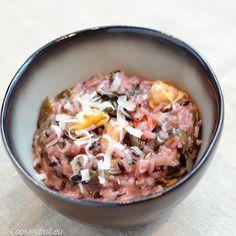 Risotto violet aux moules et algues ce soir sur Cookandroll.eu :-) La recette - à la casserole ou au Companion - est ici: http://www.cookandroll.eu/archives/2016/02/23/32674511.html